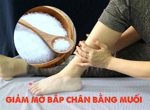 Khám phá tất tần tật cách giảm mỡ bắp chân bằng muối trong 1 tuần