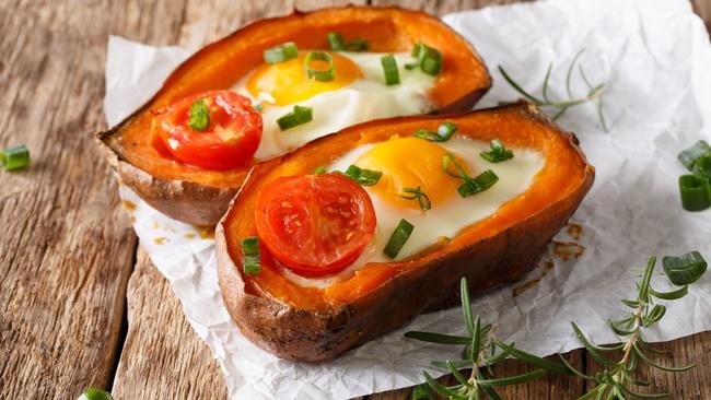 Khoai lang hấp trứng - món ăn giảm cân đầy bổ dưỡng