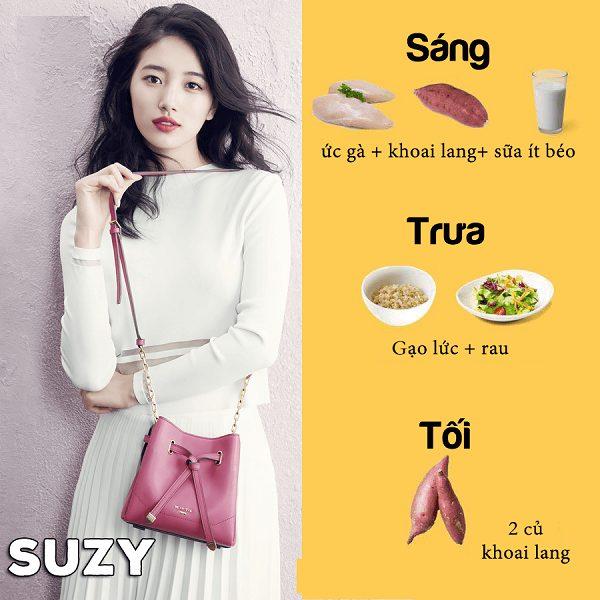 Thực đơn giảm cân bằng khoai lang của Sao Hàn Suzy