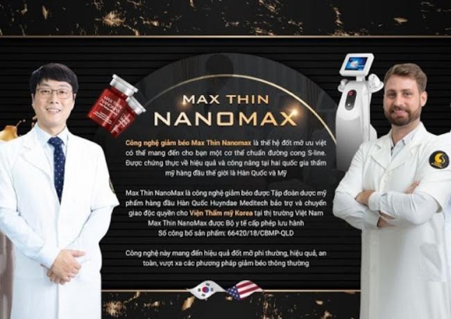 giá giảm béo công nghệ Max Thin Nanomax